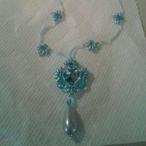 Jewelry - A beaded swarovski Crystal necklace
